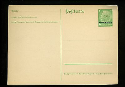 Postal Stationery H&G #I35 Germany Military & Occupation in Luxembourg 1940