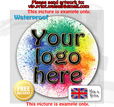 LOGO Printed Circle Stickers - Custom Logo GLOSS - postage labels Personalised