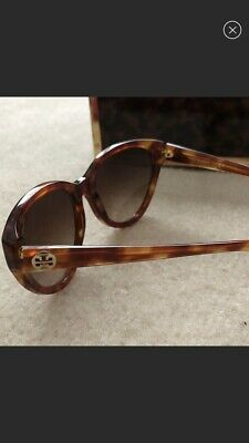 f73f18ef3e9f NEW TORY BURCH Tortoiseshell Round Cat Eye Sunglasses - $89.00 ...