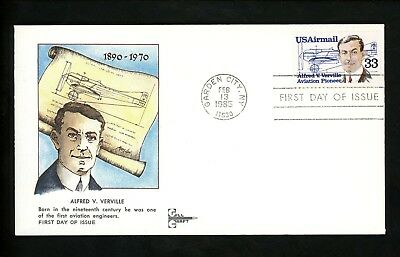 US FDC #C113 Gill Craft 1985 Garden City NY Alfred Verville