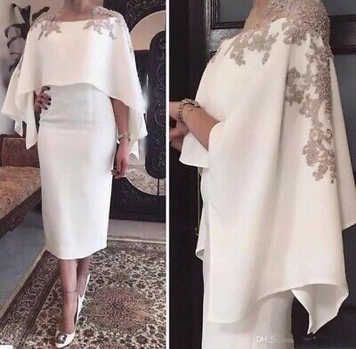 PLUS SIZE MOTHER Of the Bride Dresses With Cape For Wedding Formal Dresses  2019