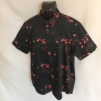 df9687526f8f4 TED BAKER SHIRT Navy Blue 2XL 6 Mens Slim Fit Flamingo SS Button-Down  Cotton New -  79.95