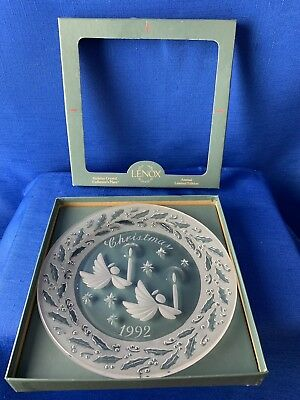 Lenox 1992 Holiday Crystal Collector's Plate Annual Limited Edition Christmas