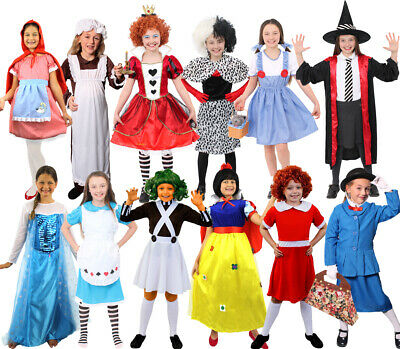 Book Character Costumes Fairytale World Book Day Childs Fancy Dress Outfit