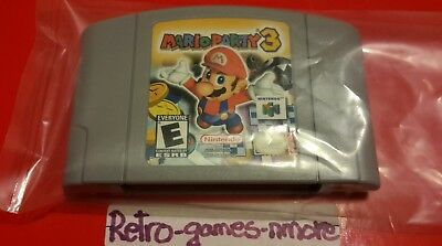 Mario Party 3 (Nintendo 64, 2001), AUTHENTIC Nintendo 64, N64 cart only Fast sh.