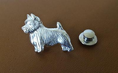 Small Sterling Silver Norwich Terrier Standing Study Pendant
