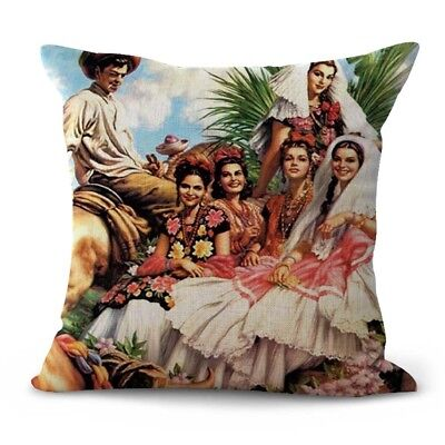 Jesus Helguera classic Mexican art cushion cover decor pillow covers US SELLER