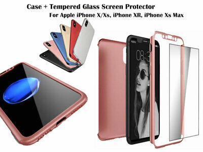 Full Body Protective 360° iPhone X/Xs XR Xs MAX Shockproof Case Hard Ultra Slim