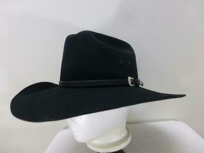 Chris Eddy Bros Ghost Rider USA black Wool western Cowboy Hat mens sz 7 1  dd52ad19a91