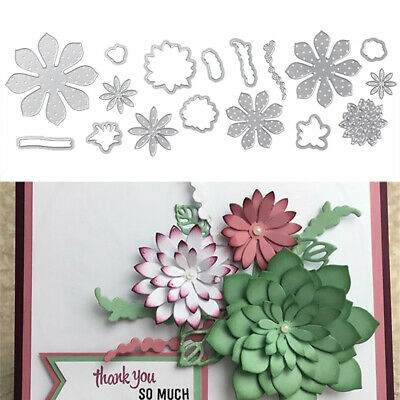 Embossing Metal Cutting Dies Blossom Flower Stencil 3D Stamp Crafts DIY Template