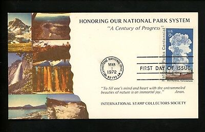 US FDC #1453 ISCS 1972 Yellowstone WY National Parks Yellowstone Old Faithful