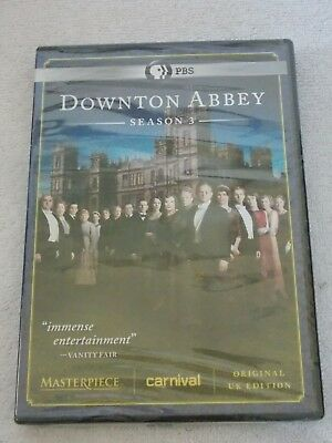 New Downton Abbey: Season 3 (DVD, 2013, 3-Disc Set) Still Factory Sealed