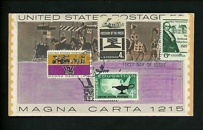 Ranto Cachet Premium US FDC #1380 on 1265 w 1206 Daniel Webster Magna Carta 1969