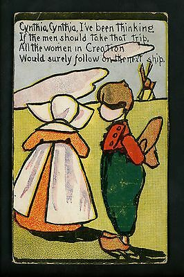 Dutch Children postcard PMC Cartoon humor Vintage