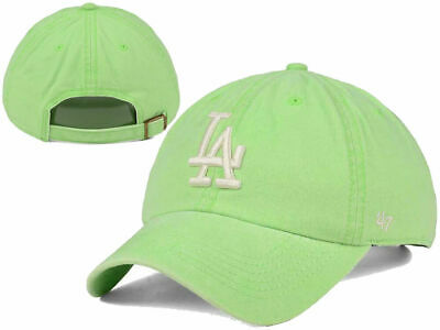 superior quality 1135f 99c36 Los Angeles Dodgers  47 MLB Summerland CLEAN UP Cap Green Buckle Strapback  Hat