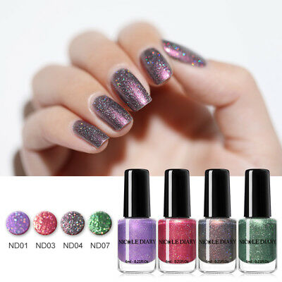NICOLE DIARY 6ml Shell Holographisch Nagellack Peel Off Water Based Nail Varnish