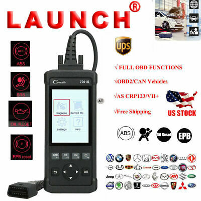 LAUNCH X431 CR7001S OBD2 Clear Code DIY Scanner Diagnostic Oil Reset