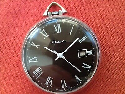 Rare Vintage Old USSR Raketa 2614.H 19 Jewels Mechanical Russian Pocket Watch