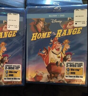 *Disney* - Home On The Range (Blu ray + DVD 2-Disc Combo Pack)- BRAND NEW SEALED
