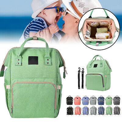 Large Capacity Multi-Function Durable Backpack Diaper Bag Organizer Green BB048