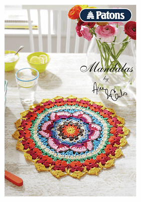 CROCHET PATTERN BOOK Lace Crocheted Mandalas Table Mats Covers Doily 27 Pages!