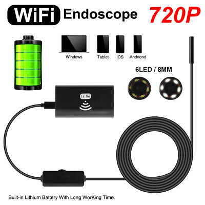 2M Flexible WiFi Endoscop HD 720P Inspection Snake Camera for Android IOS BI1062