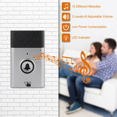Wireless Intercom Doorbell With 1 Push Button and 1 Receiver Loud Volume AH483