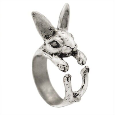3D Vintage Hippie Chic Vintage Rabbit Ring Bunny Animal Knuckles Ring Women Gift