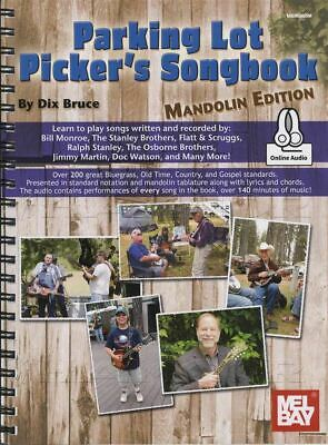 Parking Lot Picker's Songbook Mandolin Edition TAB Book/Audio SAME DAY DISPATCH