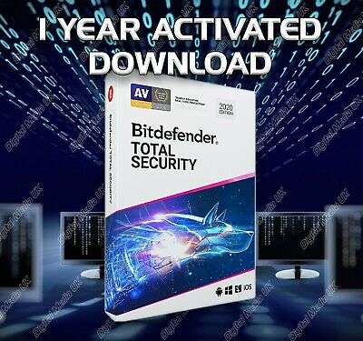 Bitdefender Total Security 2020 1 Device -  2 Years Activation Download