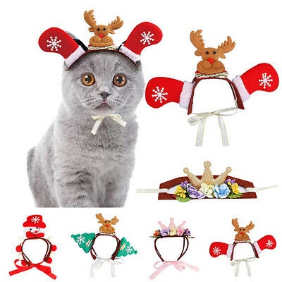 Puppy Cat Dog Hair Band Christmas Pet Party Decor Adjustable Headwear CB