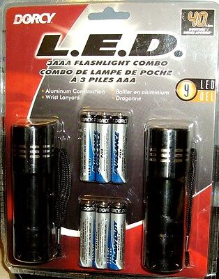2 Packs Eveready Flashlight L.E.D poche avec 3 piles AAA