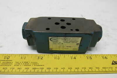 Continental Hydraulics C5S-PC-6 Pilot Operated Hydraulic Check Valve