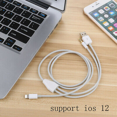 50cm 8pin to 3.5mm Jack Auxiliary Audio and USB Charging Cable for iphone X 8 7