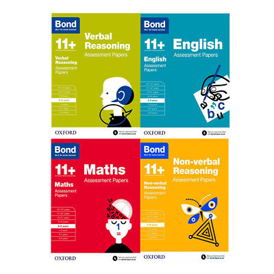 Bond 11+ English Maths Verbal Reasoning Assessment Paper 4 Books Collection Set