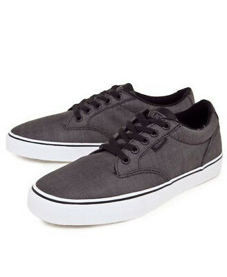 9e16fca3f18 NEW MENS VANS Atwood Deluxe Black Washed Look Casual Off The Wall ...