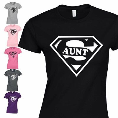 Super Aunt Inspired Cool Standard Gift Funny Tshirt Top Ladies Birthday Present