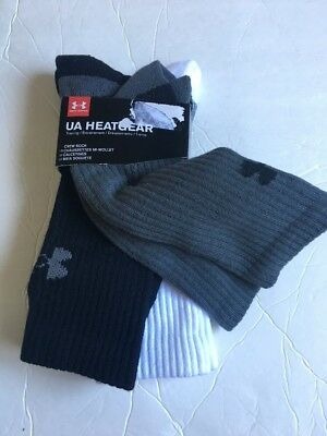 Under Armour 3 Pair Men Crew Socks Size Medium L 9-12.5