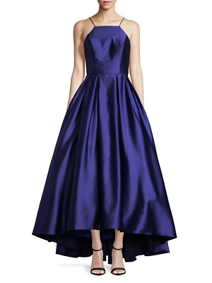 ffdd5ed6b70 BETSY   ADAM High-Low Satin Gown Royal Size 4  259 -  169.00