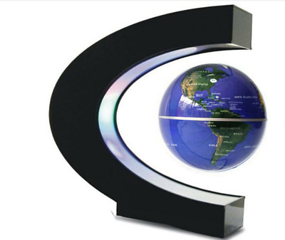 Levitation Anti Gravity Globe C Shape Magnetic Floating World Map with LED Light