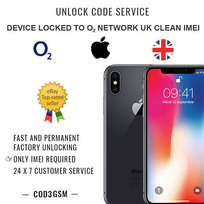 Factory Unlock Service For O2 / Tesco / GiffGaff UK iPhone X Unlocking IMEI only