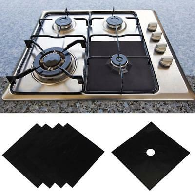 4X Reusable Gas Range Stove Top Burner Protector Liner Cover For Cleaning Pack