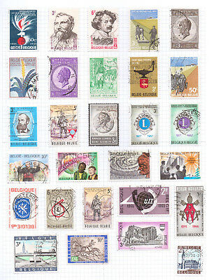 BELGIUM   Album page of Used Stamps (M708)