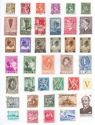 BELGIUM   Album page of Mint/Used Stamps (M703)