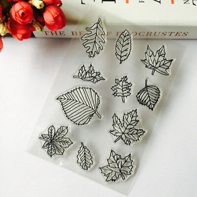 Leaf Shape Transparent Silicone Stamp DIY Scrapbooking/Photo Album Ornaments CB