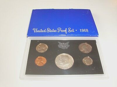 1968 S United States Proof Mint 5 Coin Set, Uncirculated