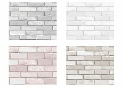 Arthouse Diamond Glitter Brick Wallpaper White Silver Pink Taupe