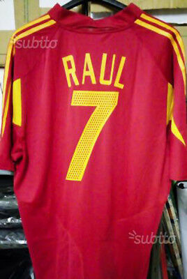 Shirt game football RAUL 7 - SPAIN National by ADIDAS - Size XL - UNOBTAINABLE
