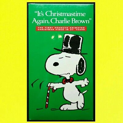 Its Christmas Time Again Charlie Brown.It S Christmastime Again Charlie Brown New Sealed Santa Peanuts Snoopy Vhs