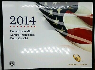 2014 Annual Uncirculated Dollar Coin Set | ASE, Native American, Presidential $1